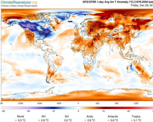 Climate Reanalyzer, map, maps, temperature anomaly, weather map, climate change, global warming
