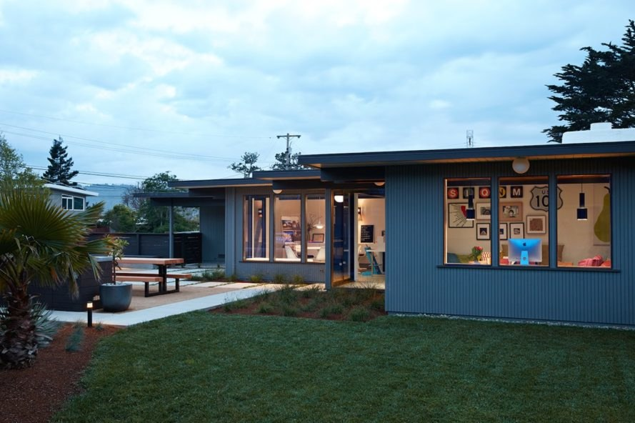 Eichler renovation by Klopf Architecture, mid century modern renovation, mid century modern expansion, Eichler renovation project, Eichler homes in Silicon Valley, mid century modern housing in Silicon Valley, Eichler house in San Mateo
