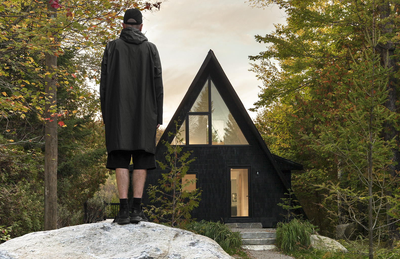 Renovated 1960s A-frame cabin proves that clever design triumphs over square footage