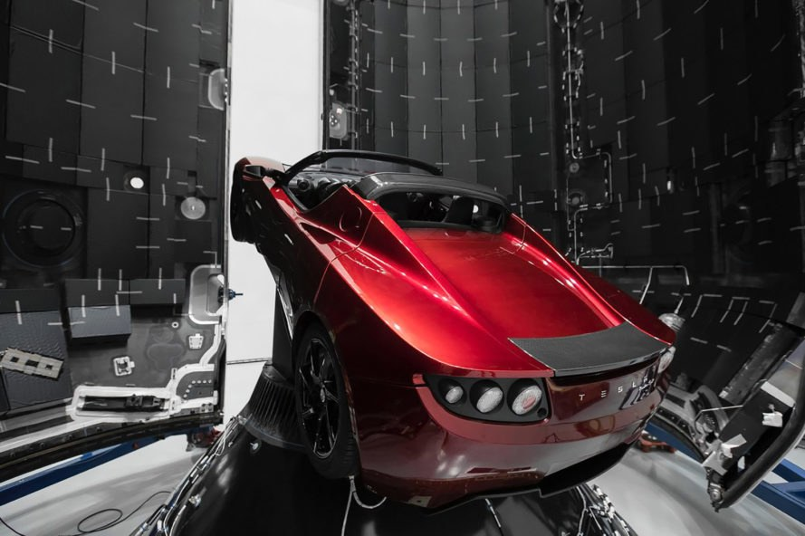 Falcon Heavy, payload, Tesla, SpaceX, Tesla Roadster, electric car