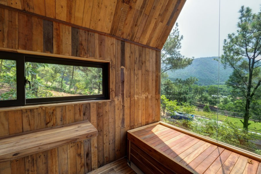 Forest House, Chu Văn Đông, house on stilts, low-cost architecture, Vietnam, temporary house, natural light, bay window, small spaces, wood-burning stove