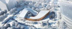 Four Season Town Reception Center, Four Seasons Resort, Beijing, 2022 Winter Olympics, Winter Olympics, eco-resort, green roof, Beijing, Group GSA, exhibition spaces