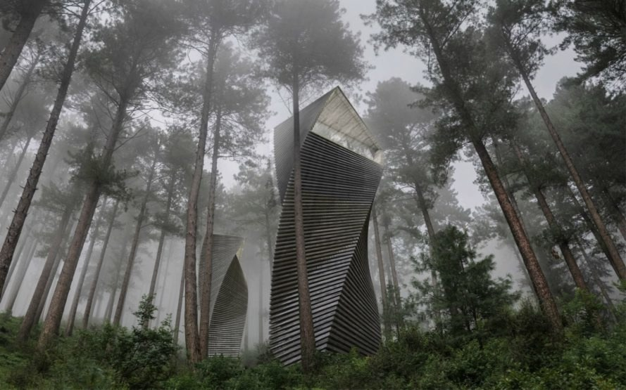 Antony Gibbon Designs, Helix House, whimsical home design, geometrical home design, geometrical architecture, twisted homes, tiny homes, tiny cabins, cabin design, nature-inspired designs, sustainable design, green design,