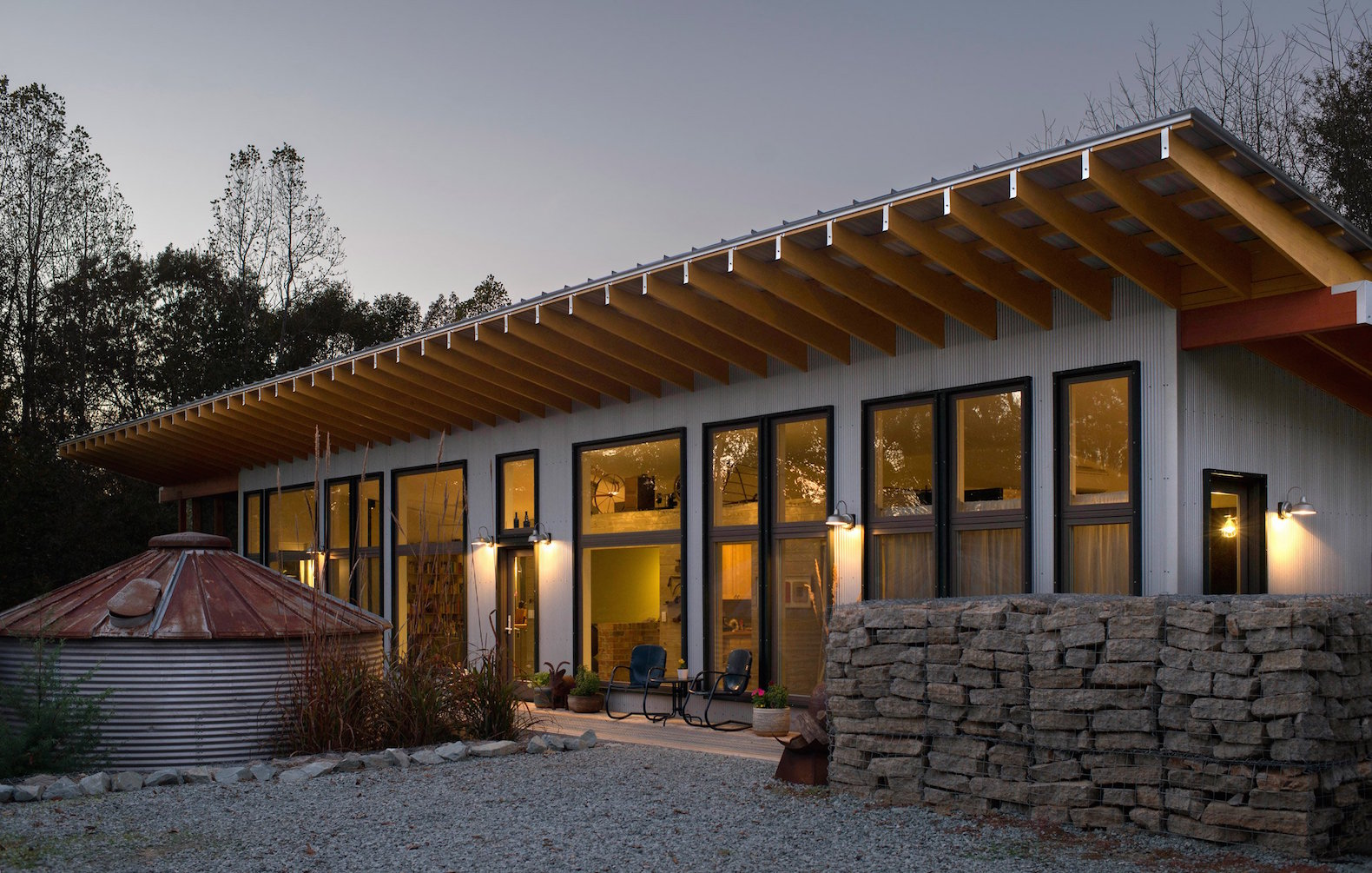 Solar-powered forever home is a modern take on the rustic farmhouse