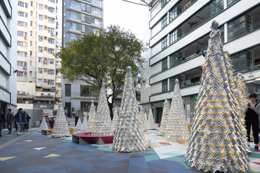 Jungle all the Way by AaaM Architects, Xmas tree nursery by AaaM Architects, green christmas ideas, recycled christmas trees, unconventional christmas trees, Hong Kong Christmas tree nursery,