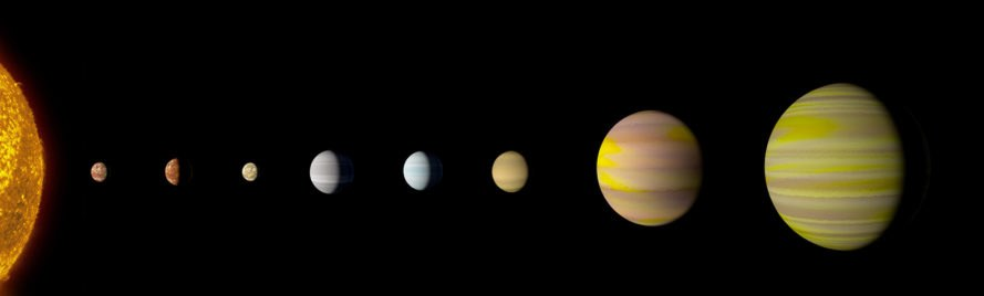 Kepler-90, space, star system, planet, planets, NASA
