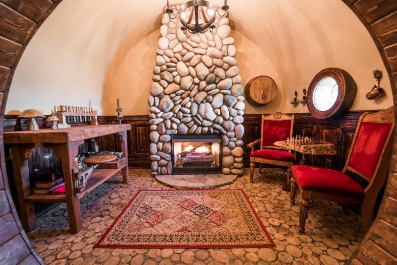 Spend the night in this magical hobbit house tucked into for Hobbit house furniture