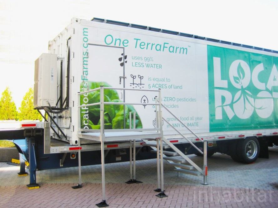 Local Roots, TerraFarm, shipping container, shipping container farm, indoor farming, vertical farming