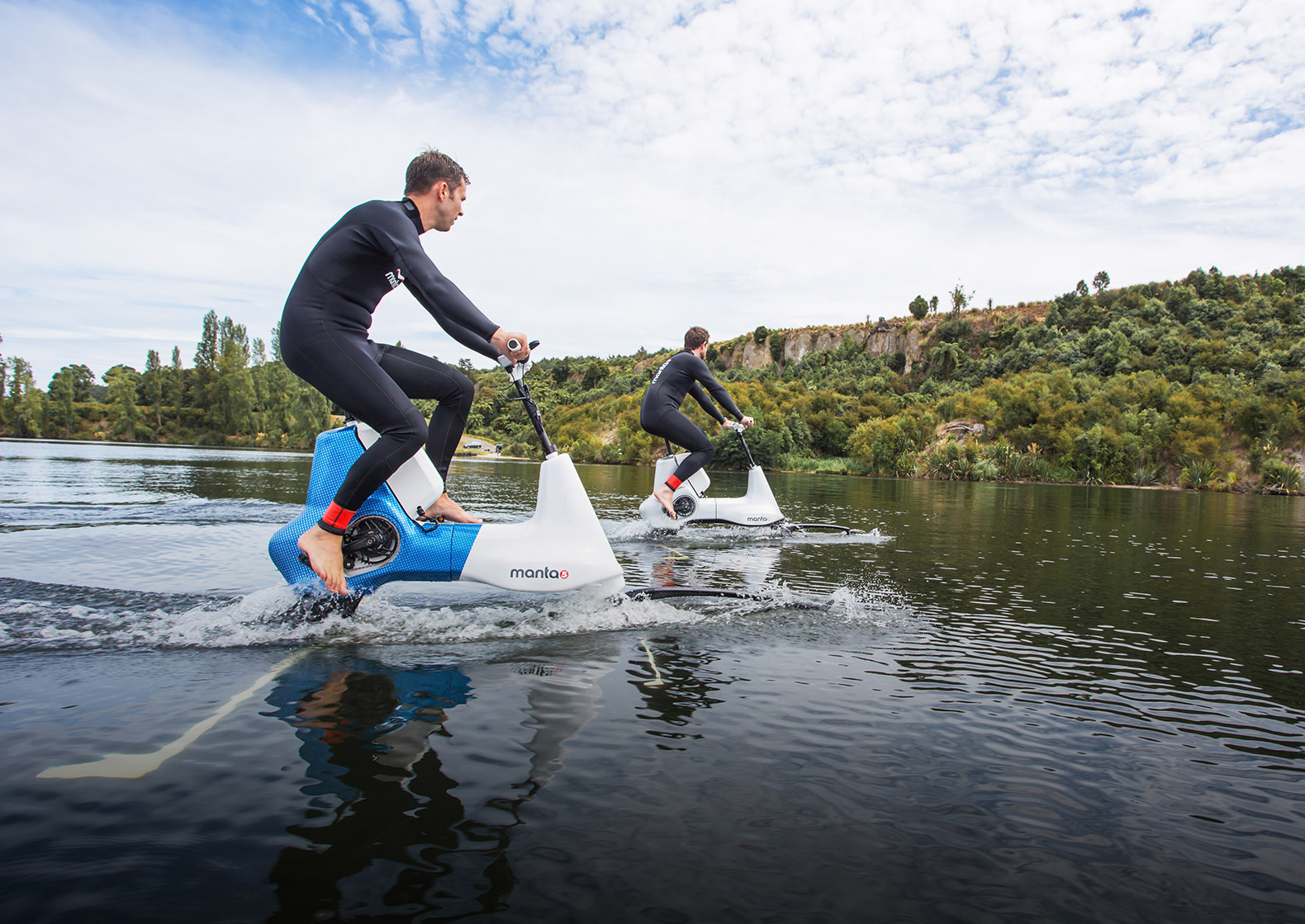 Manta5's new electric water bike lets you cycle on rivers and lakes