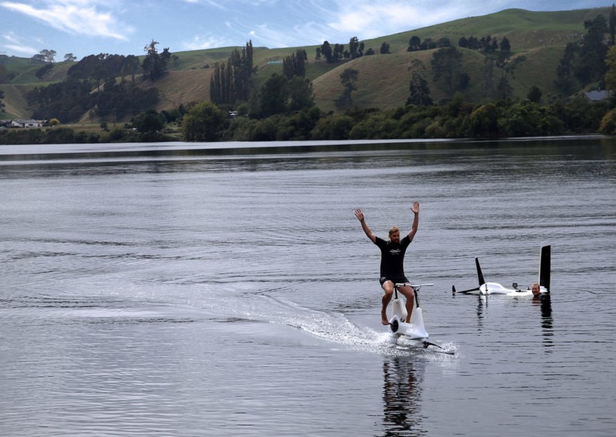 Manta5, Hydrofoiler XE-1, water bike, hydrofoil, hydrofoiling, e-bike, New Zealand