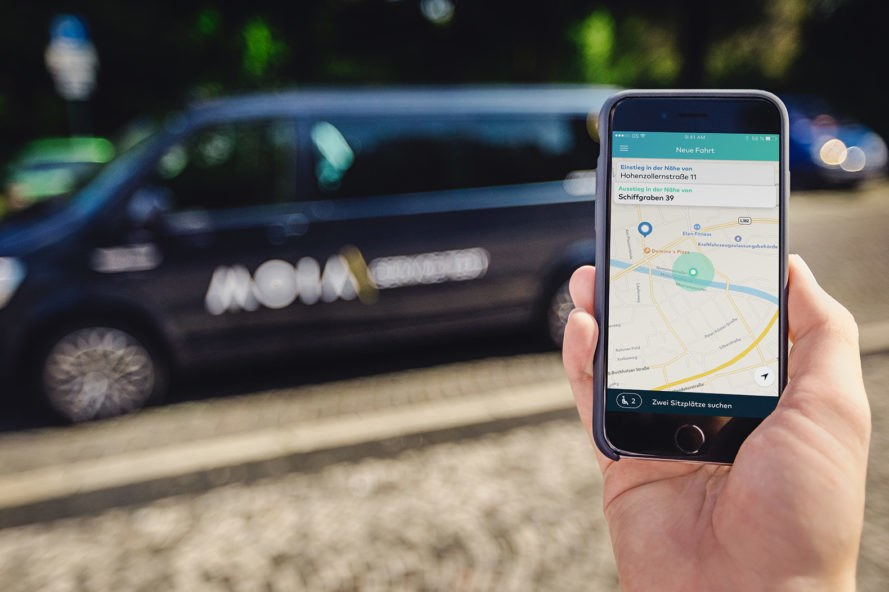 Moia, Volkswagen, Germany, rideshare, ridesharing, app, apps
