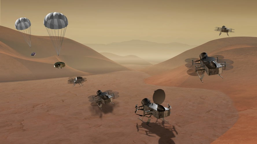 NASA, Dragonfly, Titan, Saturn's moon, lander, science, research