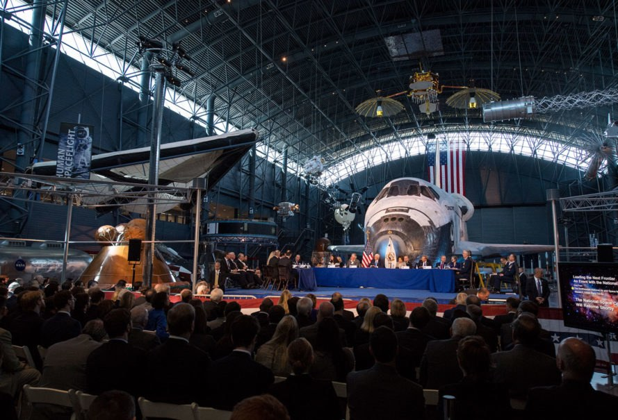 National Space Council, Smithsonian National Air and Space Museum, Steven F. Udvar-Hazy Center, Mike Pence, NASA, space