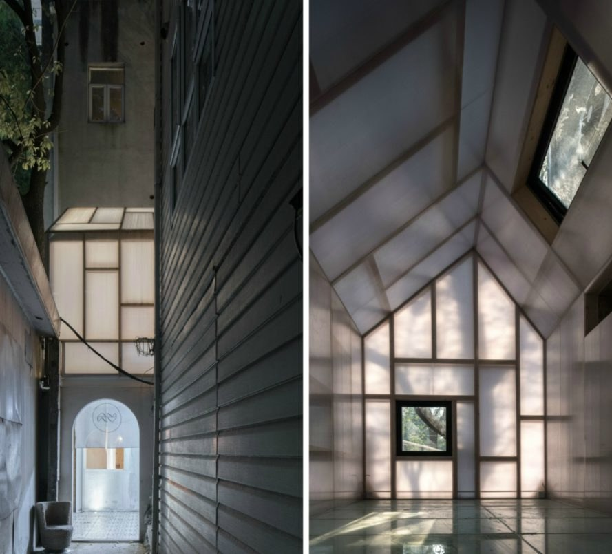 Wutopia Lab, One person's Gallery, gallery design, small gallery spaces, tiny living, shanghai galleries, gallery design shanghai, repurposed materials, adaptive reuse, urban design,