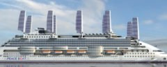 Peace Boat, Ecoship, Oliver Design, cruise ship, ocean liner, solar sails