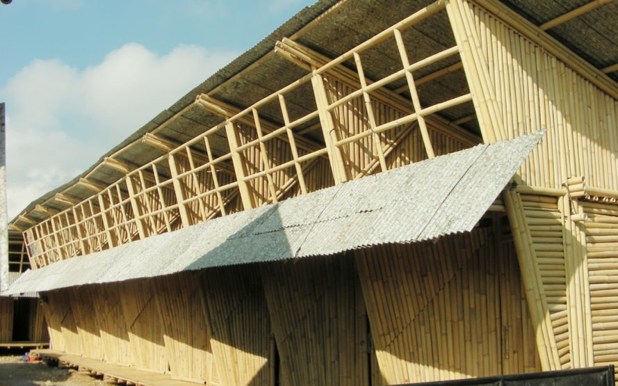 IBUKU, bamboo housing, bamboo, Bali, temporary housing, affordable housing, mezzanine, recyclable materials, plastic waste, recyclable materials