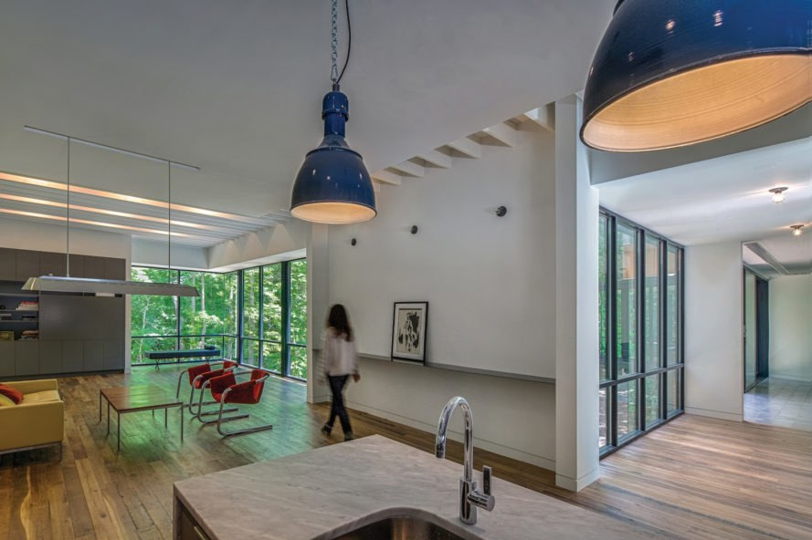 Piedmont Retreat by Tonic Design, Piedmont Retreat in Durham, reclaiming flooring in Durham, Tonic Design architects, Tonic Design Raleigh, Corten steel residential architecture,