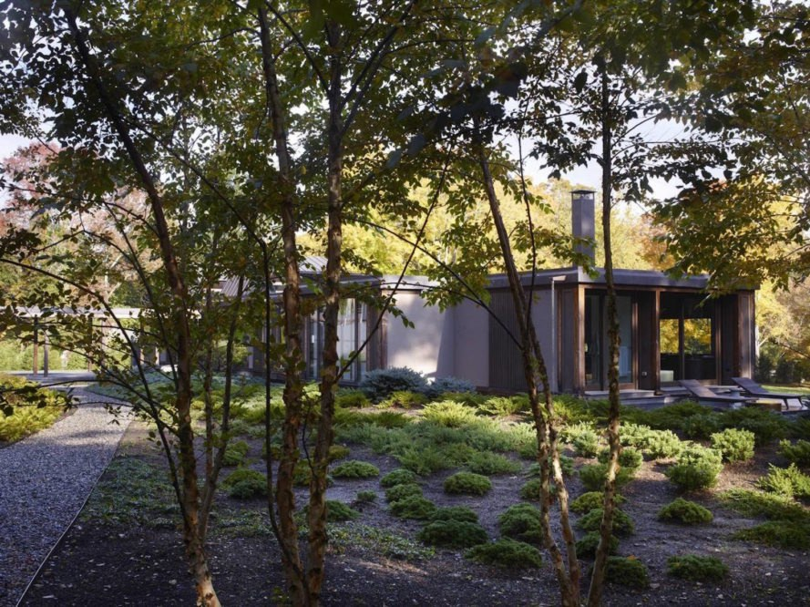 Pound Ridge Residence by Tsao & McKown Architects, Pound Ridge Residence New York, custom forever home, total architecture design, total design by Tsao & McKown Architects, geothermal powered architecture, geothermal powered homes in New York, timber-framed homes in Westchester