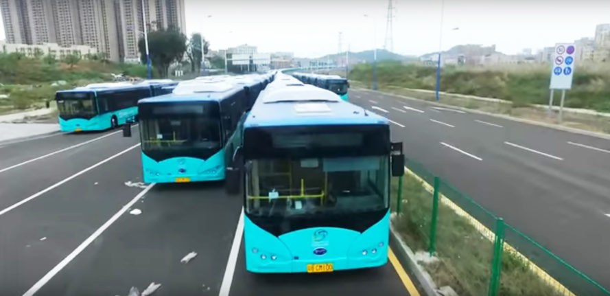 Shenzhen, China, BYD, bus, buses, electric bus, electric buses