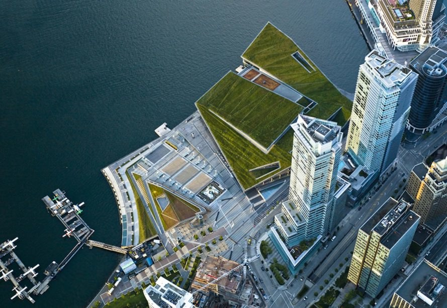 Vancouver Convention Centre West by LMN Architects, Vancouver Convention Centre West by PWL Partnership Landscape Architects, Canada's largest green roof, Vancouver convention center, world's greenest convention center, double LEED platinum buildings, LEED Platinum convention center, LEED platinum Vancouver architecture,