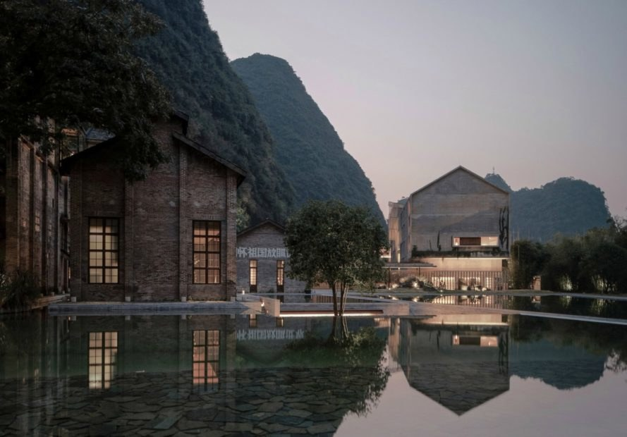 Vector Architects, Alila Yangshuo hotel, adapative reuse, adaptive architecture, revamped sugarmill, chinese architecture, chinese design, old chinese sugarmill, chinese hotel design, concrete forms, concrete architecture, converted sugar refinery