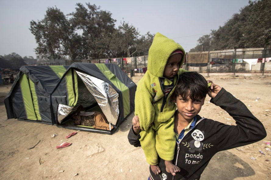 weatherHYDE, billionBricks, tent, shelter, India, Bangladesh, homeless, poor