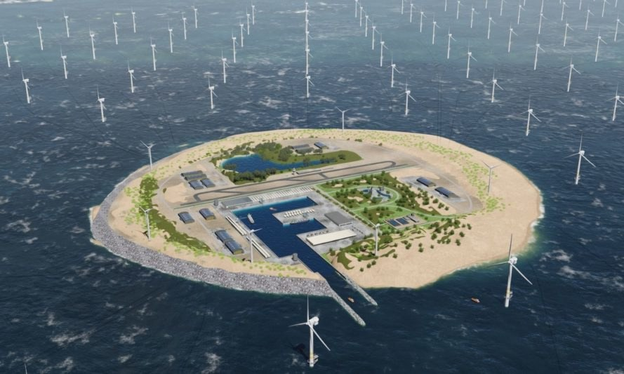 windfarm island, wind farm island, windfarm island the Netherlands, Dutch windfarm island