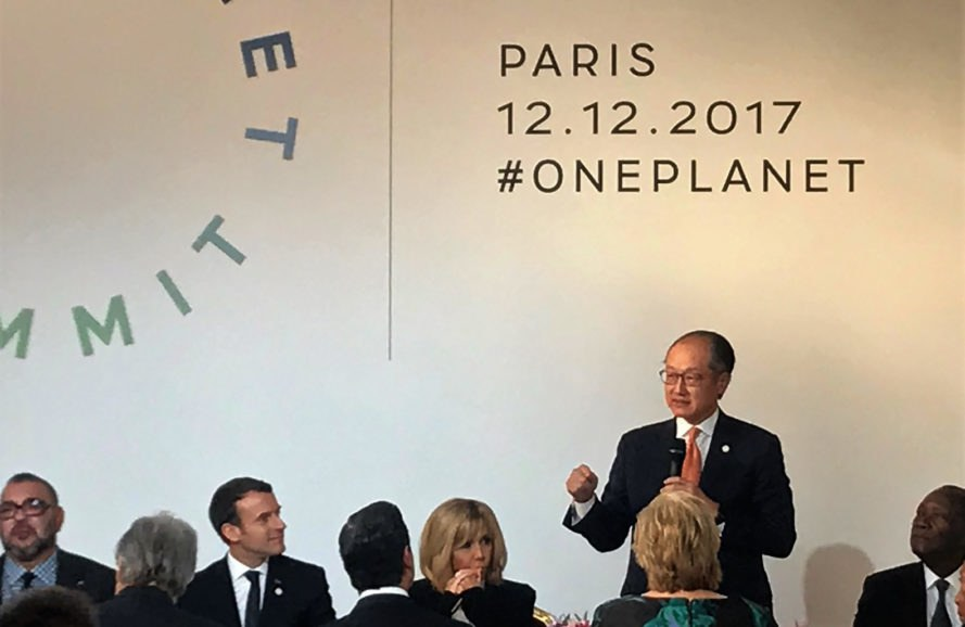 World Bank, One Planet Summit, Jim Yong Kim, summit, speech, Emmanuel Macron