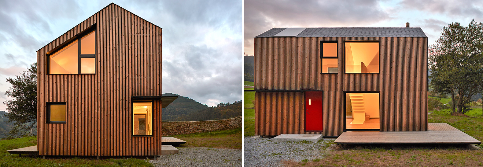 It took only five hours to assemble this small prefab house in Spain