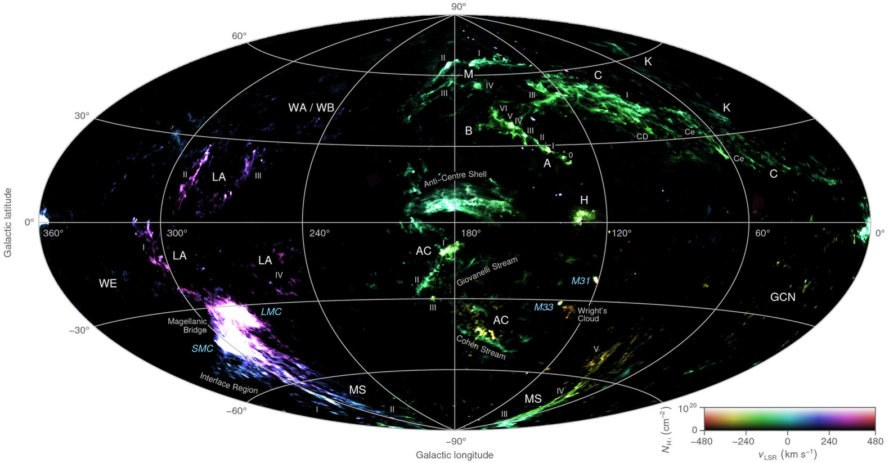 Dr. Tobais Westmeier, University of Western Australia, International Radio Astronomy Research Center, hydrogen clouds, space, space exploration, space exploration, science, scientific discoveries, discoveries about space, hydrogen clouds map, cloud map, map of space clouds, Milky Way, Milky Waymap