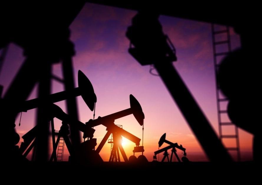 oil drill sunset, oil drill silhouette, oil drilling sunset