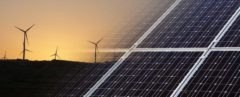 solar and wind farm, solar power, wind power, windmills, solar panels