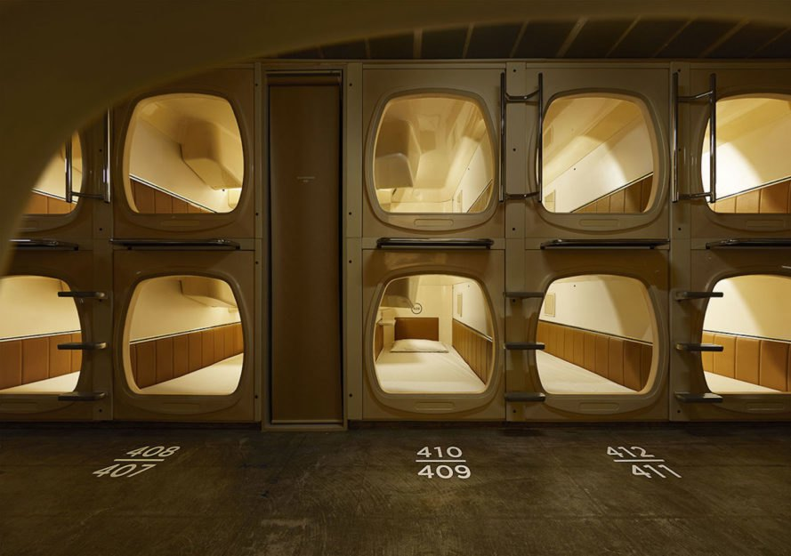 Tokyo capsule hotel gets a finnish inspired refresh and sauna for Design hotel tokyo