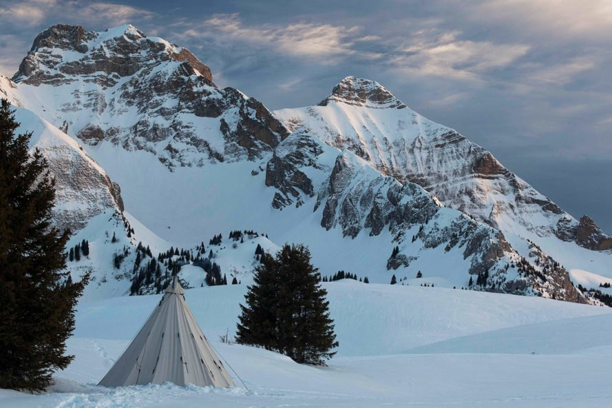 Nordisk, Alfheim, Nordisk Alfheim, tepee, tent, camping, snow, mountains