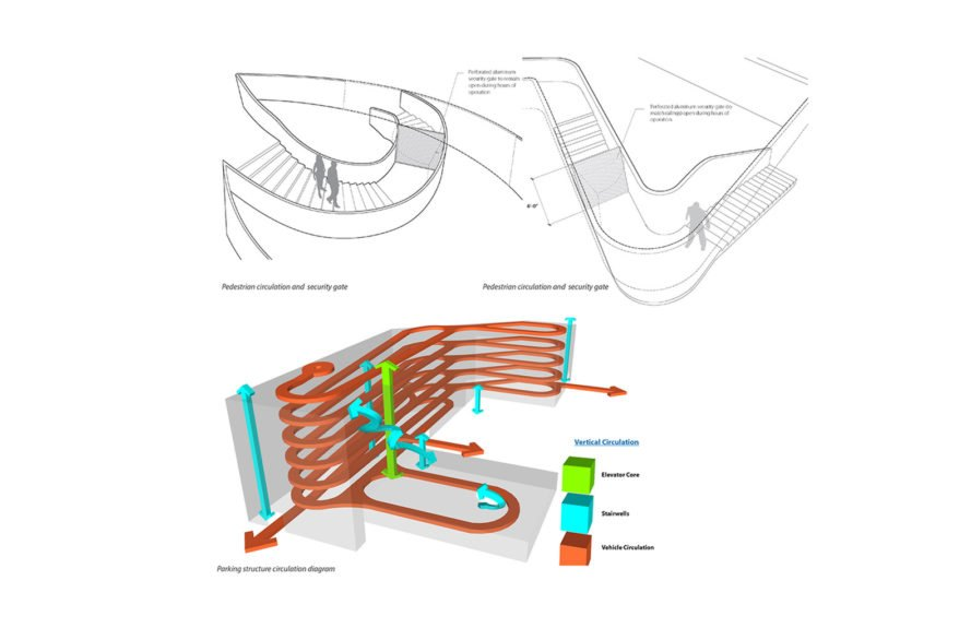 Angle Lake Transit Station and Plaza, Seattle-Tacoma International Airport, Brooks + Scarpa, William Forsythe, airport, undulating façade, aluminium facade, aluminium, transparent façade, green architecture