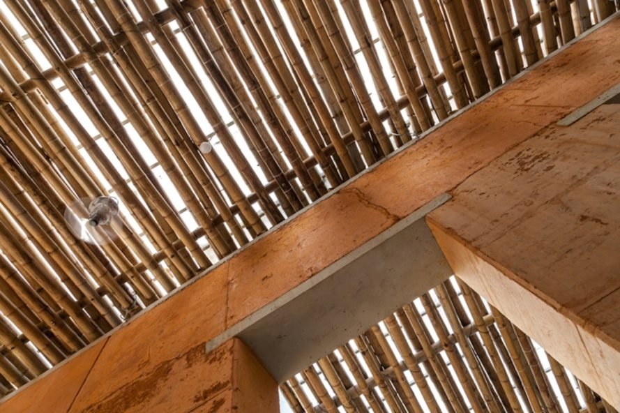 Mao Khe architecture, H&P Architects, bamboo and earth architecture, rammed earth architecture in Vietnam, BE friendly space by H&P Architects, BE friendly space in Mao Khe, Mao Khe community space, bamboo and rammed earth Vietnam