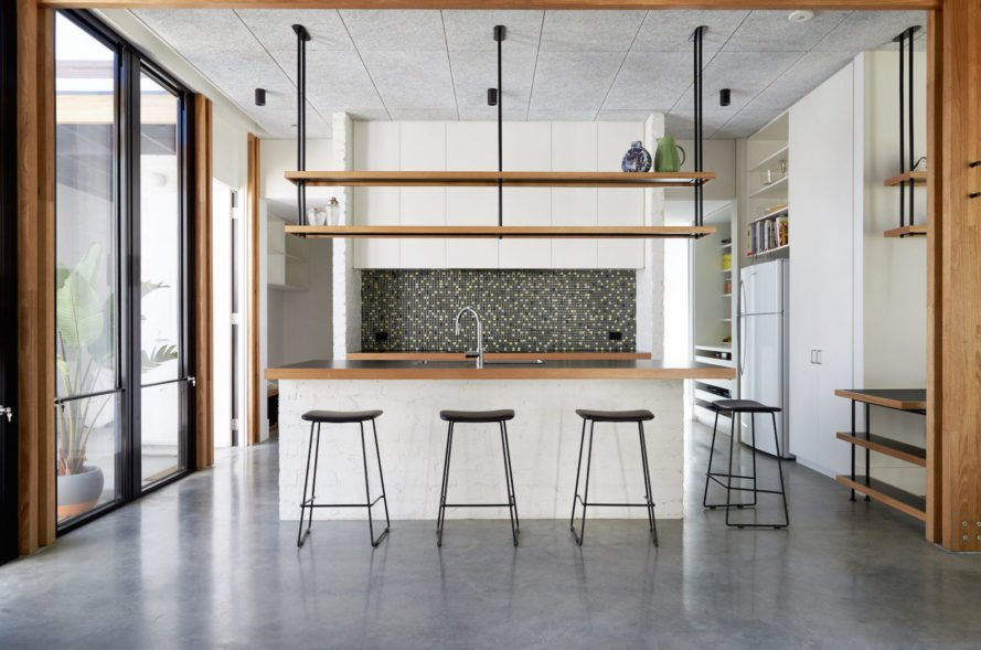 Ballantyne Street by Foomann Architects, ArchiTeam sustainability award, eco-certified materials used in Australia, exposed laminated lumber veneer frame, composite LVL, sustainable forever home, renovation and expansion resident projects in Melbourne, Ballantyne Street residences,