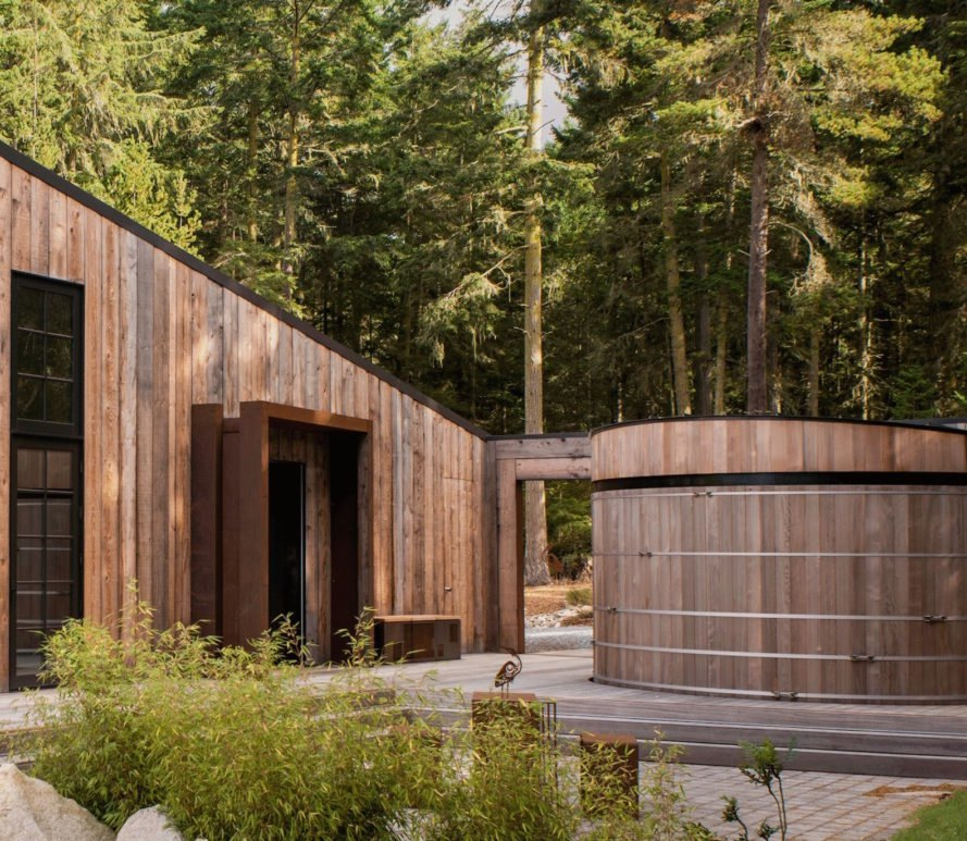 Barn Gallery by INCLINEDESIGN, Barn Gallery Lopez Island, Barn Gallery guesthouse, Lopez Island art gallery, Lopez Island guesthouse, Lopez Island holiday home, INCLINEDESIGN green architecture, eco-friendly summer cabin, reclaimed timber cabin, rainwater harvesting Lopez Island