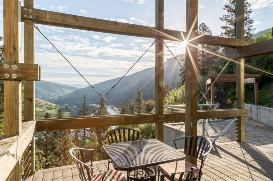 Clearwater Canyon House, Sotheby's International Reality, timber, Idaho, luxury residence, wildlife, timber observation deck, guest house, panoramic views, outdoor lifestyle