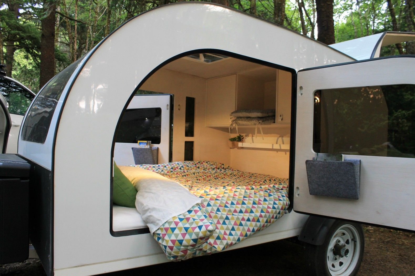The Droplet Is A Light Filled Teardrop Trailer Inspired By