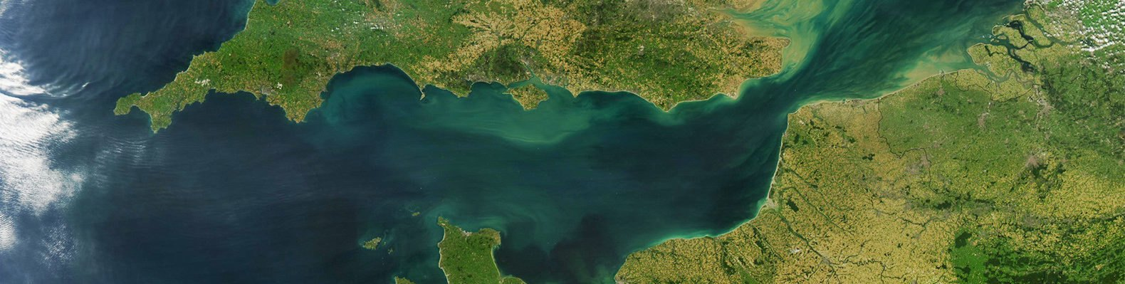 English Channel, Dover Strait, England, France, United Kingdom, satellite image