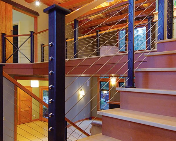 interior stair railing designs ideas and decors most.htm cable railing     expand the view in your favorite spaces  cable railing     expand the view in your
