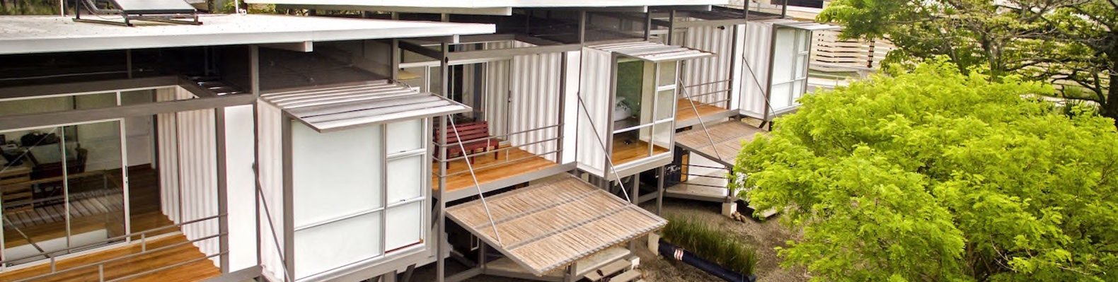 Franceschi Container Houses by DAO and Re Arquitectura, Franceschi Container Houses Costa Rica, Franceschi Container Houses Santa Ana, repurposed shipping container housing, cargotecture in Costa Rica, cargotecture family home, cargotecture apartments,