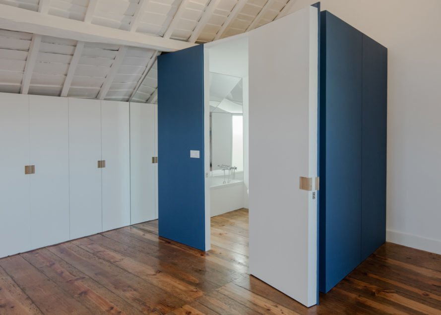 House in Ovar, green renovation, Portugal, Nelson Resende, natural light, garage, storage spaces, temporary spaces, multipurpose spaces, green architecture