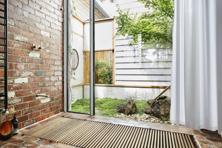 Kiah House by Austin Maynard Architects, North Fitzroy Kiah House, Kiah House Melbourne, Awakened Flow by Seb Humphreys, recycled sugar mill timber, live/work architecture in Melbourne, green renovation in Melbourne,
