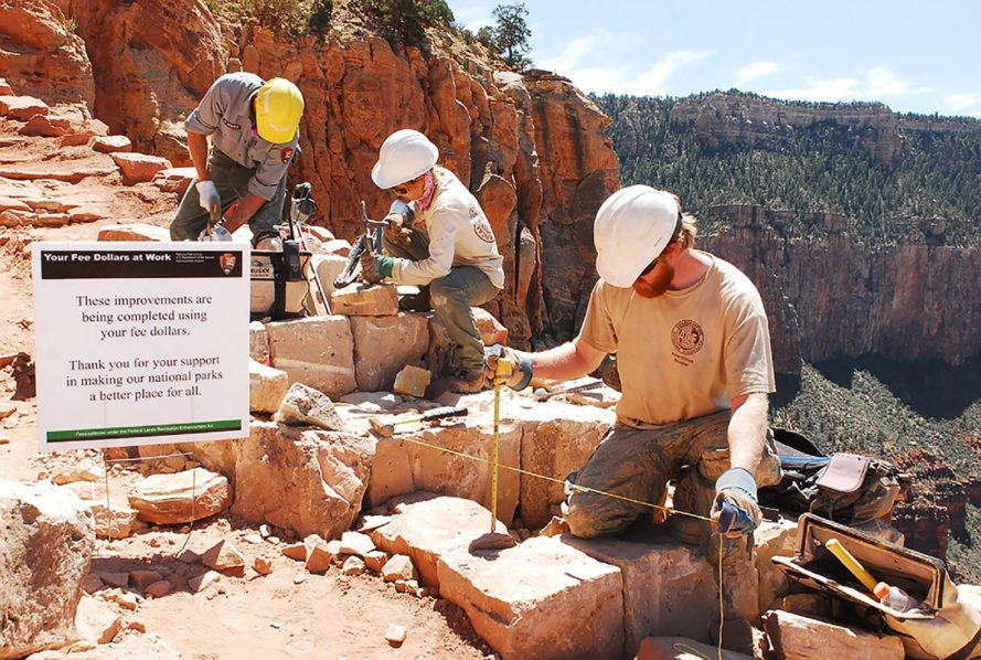 National Park Service, NPS, Grand Canyon National Park, trail, trail rehabilitation, national park, national parks