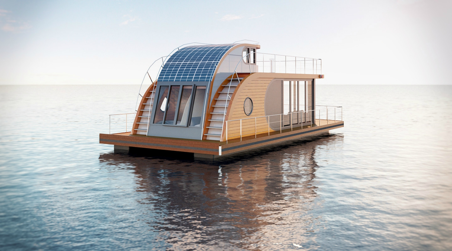 sail away from it all in the gorgeous nautlius houseboat. Black Bedroom Furniture Sets. Home Design Ideas