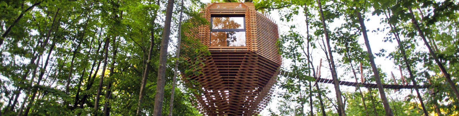 Atelier LAVIT, Origin Tree House, treehouse design, birds nest treehouse, forest treehouse, treehouse pod, spa treehouse, treehouse construction, french treehouse, sophisticated treehouse, cabin design, wooden cabins