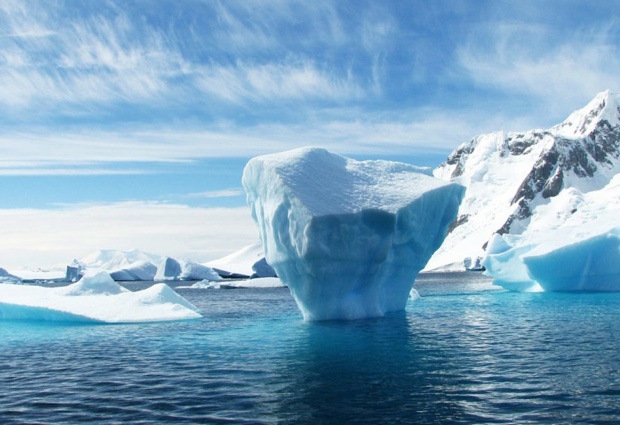 Ice, iceberg, polar, Antarctica, Antarctic, water