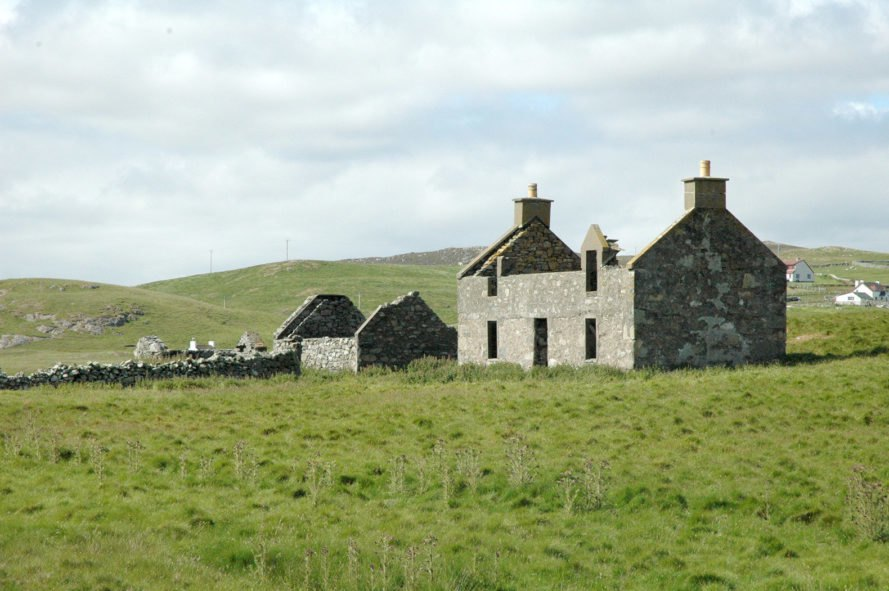 Private island, Shetland, Linga, island, islands, cottage, ruin